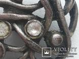 Пуговица ажурная серебрение 3 шт 60-е, фото №5