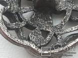 Пуговица ажурная серебрение 3 шт 60-е, фото №7