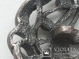 Пуговица ажурная серебрение 3 шт 60-е, фото №8