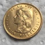 10 гульденов 1897 год Нидерланды золото 6,72 грамм 900', фото №2