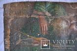 """Икона """"Господь Саваоф"""", """"Бог Отец"""". Часть с иконы на ткани. Размер: 36(36,5)x24(24,5) см., фото №8"""