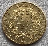 20 франков 1849 год золото 6,45 грамм 900' тираж - 53000, фото №3