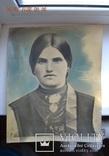 Большое дореволюционное фото №3. Украинка. Сорочка, керсетка, намисто, дукач. 29,5х24 см., фото №8