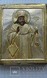 Святой Феодосий Черниговский в серебряном окладе, фото №3
