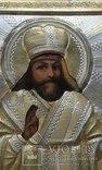 Святой Феодосий Черниговский в серебряном окладе, фото №4