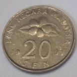 Малайзія 20 сенів, 1991
