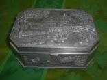 Шкатулка пейзажная из тяжёлого металла Европа, фото №2