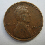 США 1 цент 1935 года., фото №4