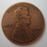 США 1 цент 1996 года.D., фото №3