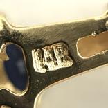 Колье золото бриллианты сапфиры, фото №5