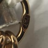 Колье золото бриллианты сапфиры, фото №9