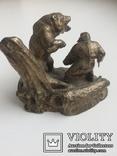 Композиция «Охотник и медведь» /Бронза/., фото №7