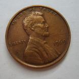 США 1 цент 1969 года., фото №2