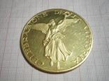 Золотая настольная медаль (Италия), фото №2