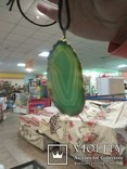 Кулон из зелёного агата, фото №8