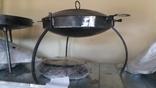 Походная костровая сковорода из диска бороны диаметром 40см с крышкой