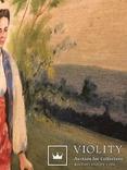 Работа по мотивам картины ''На кладке'' К.Трутовского . Копия., фото №5