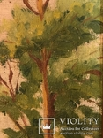 Работа по мотивам картины ''На кладке'' К.Трутовского . Копия., фото №7