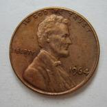 США 1 цент 1964 года., фото №3