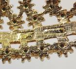 Брошь в форме листика с кабошонами цвета  бирюзы. Маркирована «Sphinx». Англия. 50-е гг., фото №9