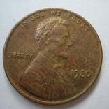 США 1 цент 1980 года., фото №3
