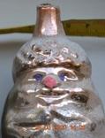 """Старая стеклянная новогодняя игрушка ёлку """"Дедушка Жёлудь"""", """"Старичок Лесовичок"""" №2. 11 см, фото №7"""