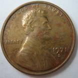 США 1 цент 1971 года.S, фото №2