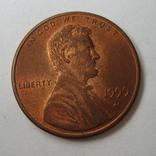 США 1 цент 1999 года.D, фото №4