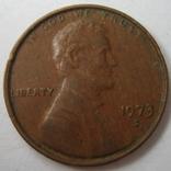 США 1 цент 1973 года.S, фото №2