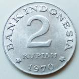 2 рупии 1970 г. Индонезия, фото №2