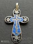 Серебряный Крест с Эмалями. 84 Проба.3., фото №2