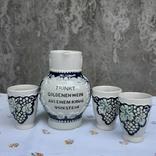 Кувшин и три стопки,керамика .Германия, фото №3