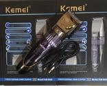 Аккумуляторная машинка для стрижки Kemei KM8066, фото №4