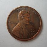 США 1 цент 1991 года.D, фото №4