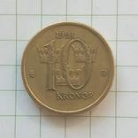 Швеция 10 крон 1991 год, фото №2