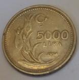 Туреччина 5.000 лір, 1994