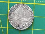 Трояк 1619 года со смещением, фото №2
