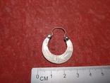 Серьга 1 шт. серебро, фото №2