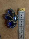 Брошь с синими камнями, фото №10