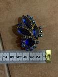 Брошь с синими камнями, фото №11