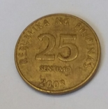 Філіппіни 25 сентимів, 2003 Не магнетик