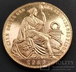 100 Перуанських Солей 1965р., золото 46,8г., фото №6