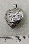 Кулон Подвеска в форме Сердечка или Сердца LOVE, фото №3