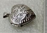Кулон Подвеска в форме Сердечка или Сердца LOVE, фото №4