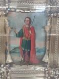 Икона Св.Димитрий Мироточивый. Фигурный киот. 40х44см., фото №7