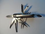 Нож (мультитул) немецкий Rostfrei, 11 предметов. Масса 111 г., фото №3