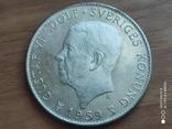 Швеція 5 крон 1959 150-річчя Конституції, фото №2