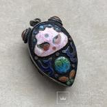 Серебряный кулон/таблетница с эмалями,старый экспортный Китай, фото №3