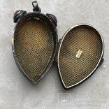 Серебряный кулон/таблетница с эмалями,старый экспортный Китай, фото №4