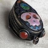 Серебряный кулон/таблетница с эмалями,старый экспортный Китай, фото №8